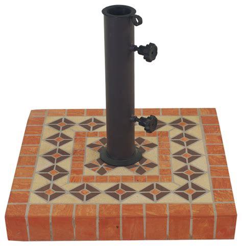 outdoor interiors terra cotta heavy duty square umbrella
