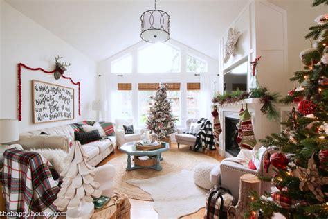 classic christmas living room   happy housie