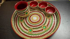 decorative pooja thali -2 - YouTube