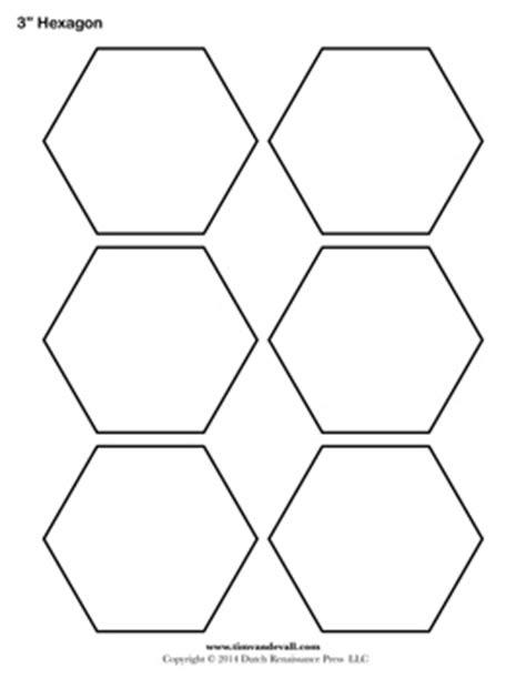 hexagon template blank hexagon templates printable hexagon shape pdfs