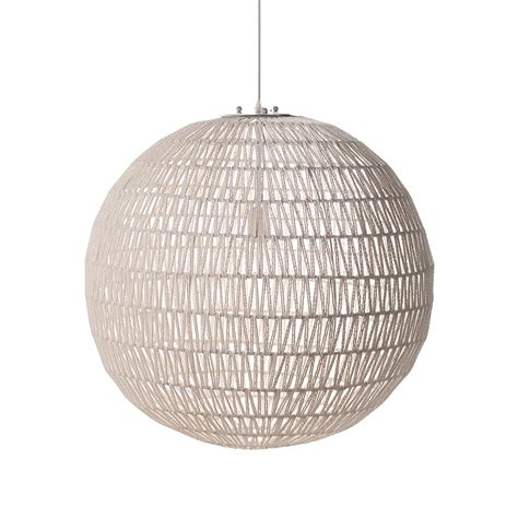 suspension boule blanche suspension boule en ficelle tress  blanche style   sur lampe