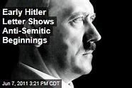 Early Adolf Hitler Document Full of His Anti Semitic ...