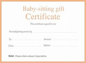 babysitting gift certificate template 4k wallpapers With babysitting gift certificate template