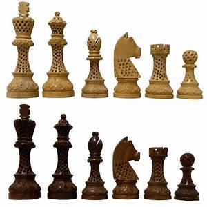 6, U0026quot, Artistic, Design, Wooden, Chess, Pieces