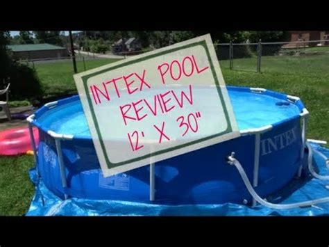Intex Pool 12x30 Review 🏊  Youtube