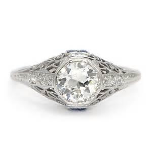 vintage sapphire wedding bands vintage sapphire engagement ring deco wixon jewelers