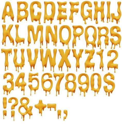 melting font alphabet yellow typography and lettering typography pinterest shops fonts