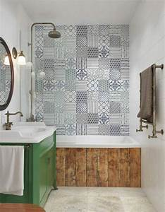 carrelage original salle de bain With vieux carrelage salle de bain