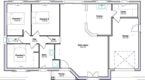 plan de maison plain pied gratuit 3 chambres plans de maisons projets 224 essayer house