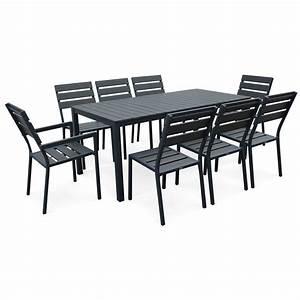 salon de jardin 8 places en aluminium et polywood With salon de jardin bois leroy merlin 0 salon de jardin sapin bois marron 8 personnes leroy merlin
