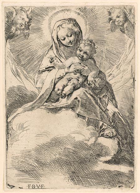 virgin seated   cloud madonna metropolitan