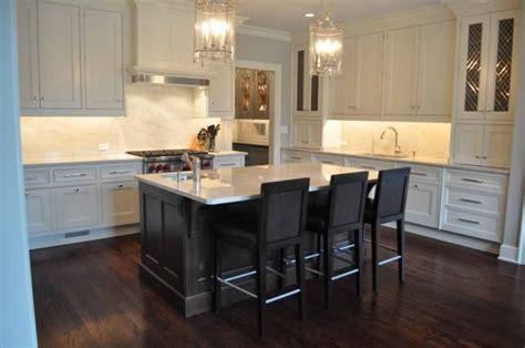 kitchen island espresso gorgeous two tone kitchen design with floor to ceiling 1906