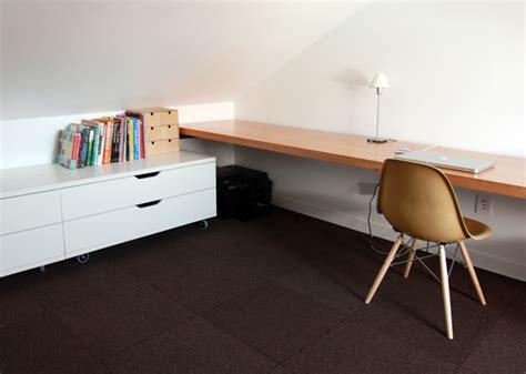 Floating Desk Ikea Countertop by Studio Loft Completion Chezerbey