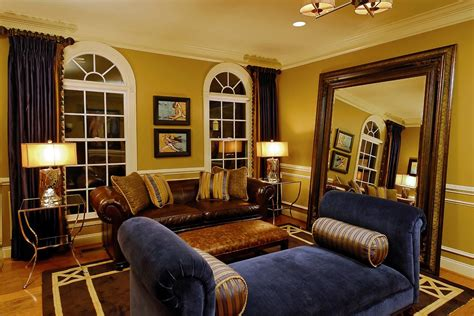 blue table ls for living room blue and gold scheme living room traditional with arm