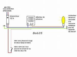 Ampoule Détecteur De Présence : forums lectricit installation d tecteur de pr sence ~ Edinachiropracticcenter.com Idées de Décoration