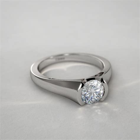 14 Ctw Modern Half Bezel Round Diamond Ring In 14k White Gold. Jewlery Chains. Peruvian Necklace. Round Diamond Wedding Rings. Print Watches. Steel Bands. Hamsa Hand Necklace. Silver Jewelry. Amethyst Jewelry