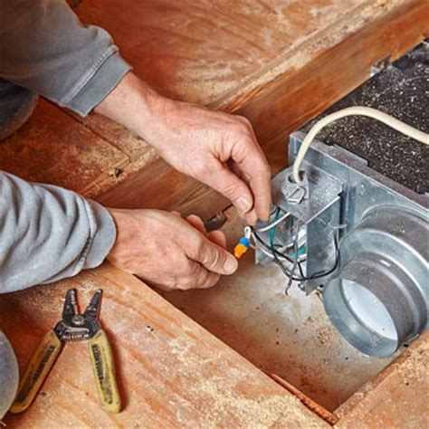 how to install a bathroom fan roof vent connect the wires how to upgrade to a bigger bath fan