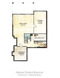 house plans with finished basements the at west gloucester finished basement option
