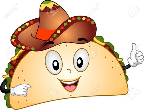 Pencil And In Color Tacos Clipart