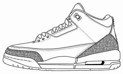 Jordan Coloring Air Jordans Drawing Sheets Sketch