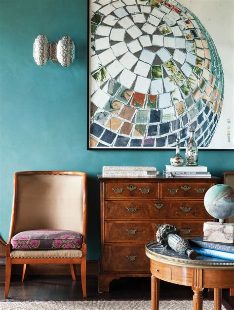 spanish moorish living room interiors  color