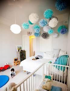 Babyzimmer Junge Gestalten : babyzimmer dekorieren 38 ideen mit papierlaternen und pompoms ~ Sanjose-hotels-ca.com Haus und Dekorationen