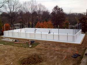 Backyard Ice Rink Boards Outdoor Furniture Design And Ideas