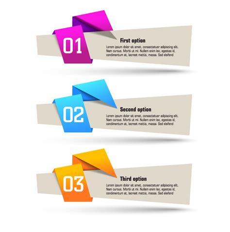 origami banner design vector web assets pinterest