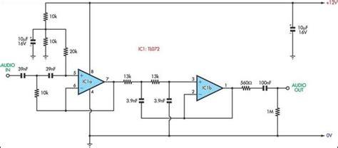 voice bandwidth filter circuit diagram