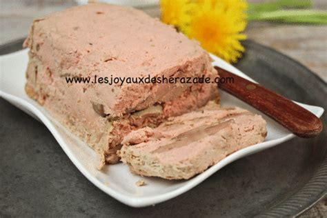 terrine de foies de volailles les joyaux de sherazade