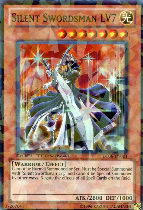 card errata silent swordsman lv7 yu gi oh it s time to duel