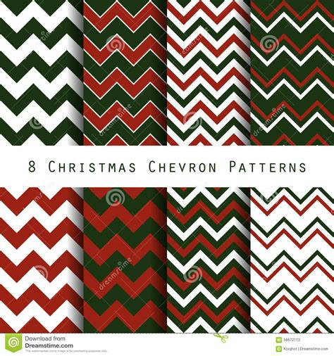 christmas chevron pattern collection stock vector