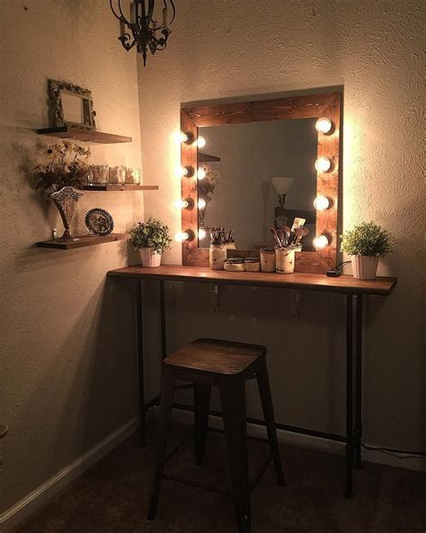 farmhouse style vanity lights cute easy simple diy wood rustic vanity mirror with
