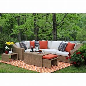 AE Outdoor Camilla 4-Piece All-Weather Wicker Patio
