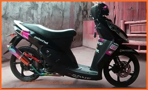Modifikasi Mio Sporty Hitam by Mio Sporty Modifikasi Warna Hitam Sticker Modifikasimotorz