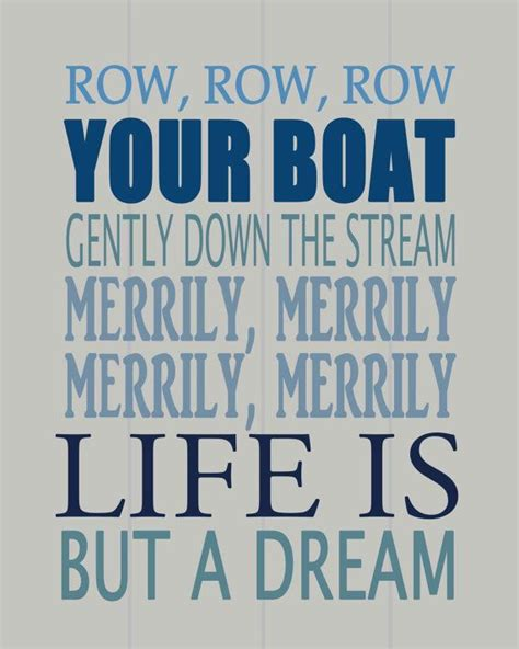 Row Your Boat Song Meaning by Row Row Row Your Boat Nursery Wall Art By