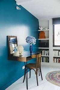 les 25 meilleures idees de la categorie bleu electrique With couleur mur bureau maison 9 inspirations deco en vert fonce joli place