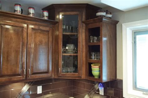 corner cabinet with glass doors 13 corner kitchen cabinet ideas to optimize your kitchen