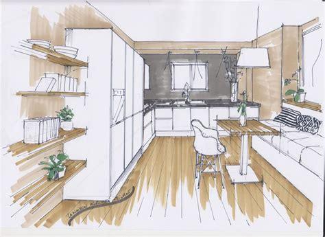 croquis cuisine croquis cuisine drawing architecture