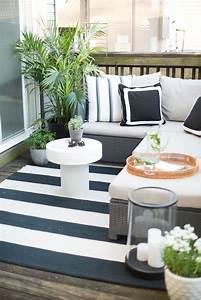 amenagement d39un balcon 25 idees deco 9 manieres d With tapis moderne avec mini canapé balcon