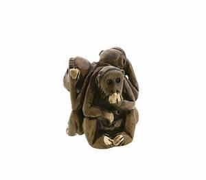 Statue Singe De La Sagesse : 3 singes de la sagesse en bois artisanat fait main statue ~ Teatrodelosmanantiales.com Idées de Décoration