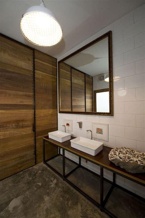 el mercado restaurant restroom cement floor wood