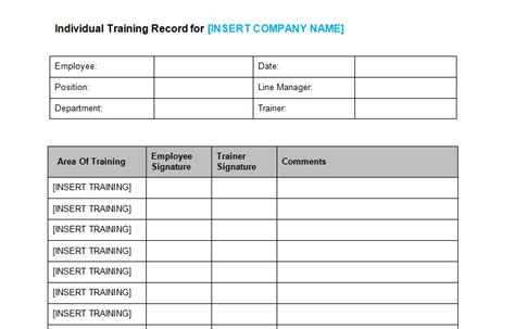 Training Records Meeting Template Download health safety bizorb