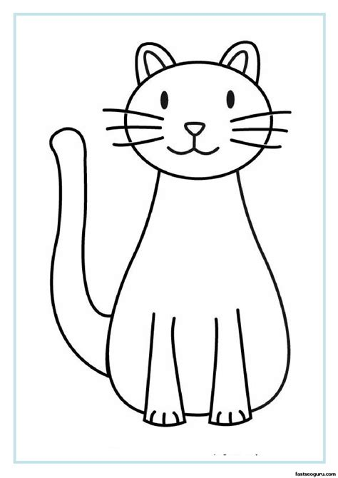 printable cat coloring pages  kids printable coloring
