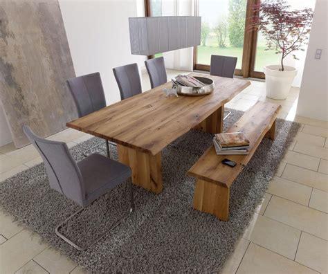 Echtholz Tisch Esstisch Mit Wangenfuss 240x100cm Wildeiche