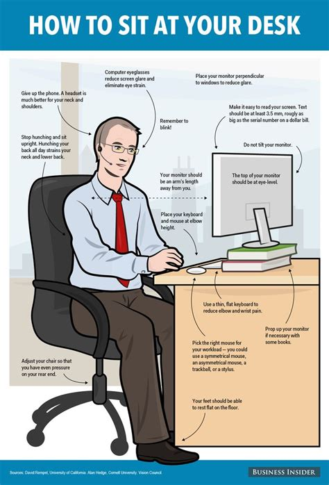 best way to sit at desk 17 best images about safety at work on pinterest health