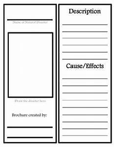 Research Log Template Natural Disaster Research Organizer And Brochure Template