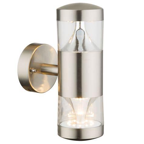up leuchte 14 watt led edelstahl up leuchte rund silber au 223 en bereich energiespar wand le globo