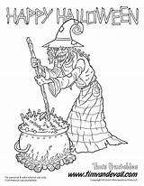 Witch Coloring Printables sketch template