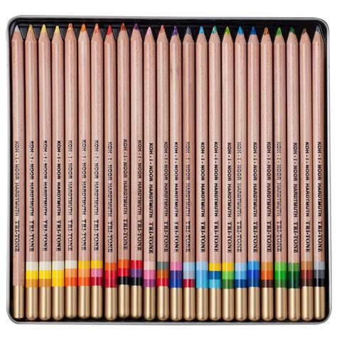 koh i noor colored pencils tri tone colored pencil sets koh i noor jerry s artarama